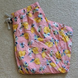 NEW Gilligan & O'Malley Pink Lemon PJ Pants